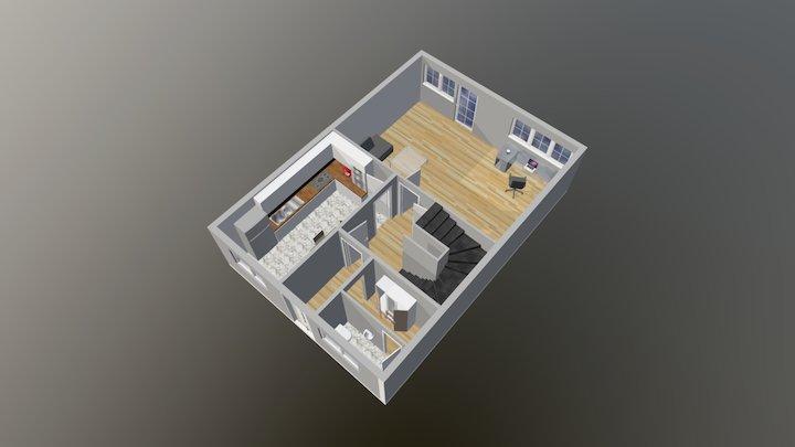 Wohnung in 3D 3D Model