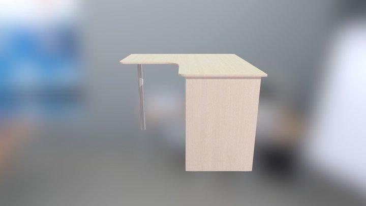 LIK4 Stol uglovoj (dub molochnuj, goluboj led) 3D Model