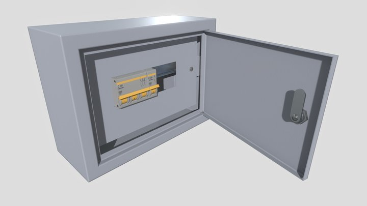 Electrical Fuse Box 3D Model