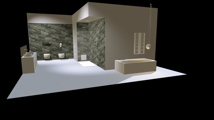 """Bagno _ Pietra Smeralda """"Al Contro"""" 3D Model"""