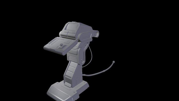 Scifi computer table 3D Model