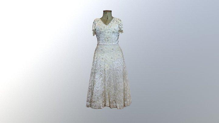 1950's Wedding Dress 3D Model