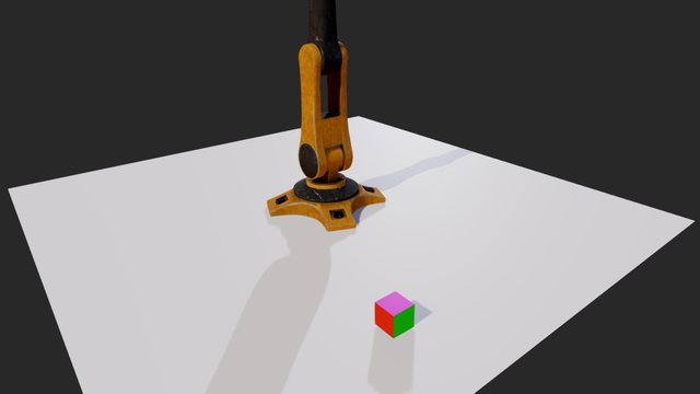 WIP Robotic arm test 3D Model