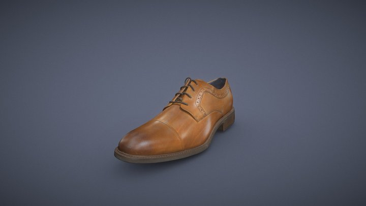 Dress Shoe Left 3D Model