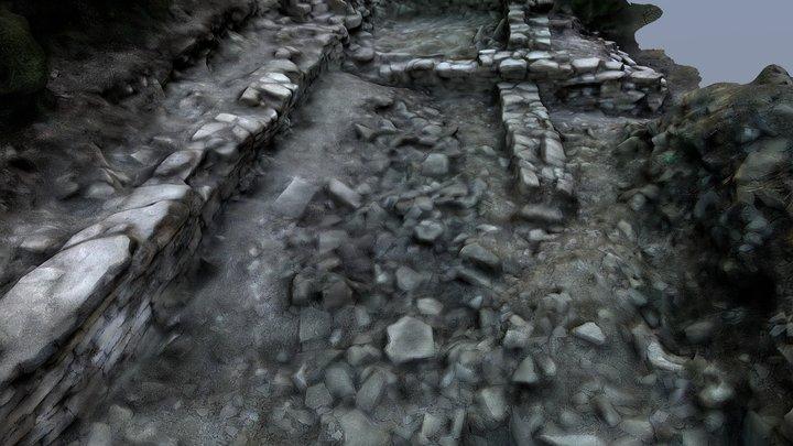 Pui de Segur. Medieval Village. Poblat Medieval. 3D Model