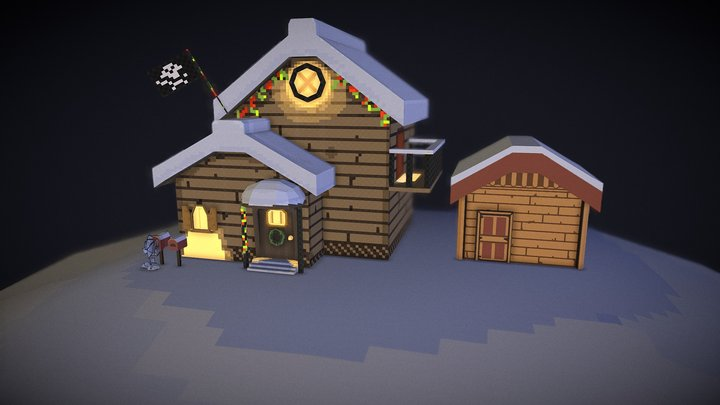 Commission: Papyrus and San's house 3D Model