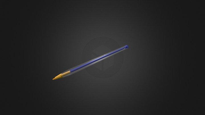 Classic Bic Pen 3D Model