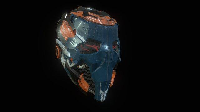 Scifi-Helm 3D Model