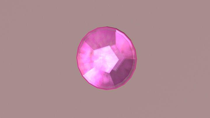 Rose Quartz Gemstone - Free Giveaway 3D Model