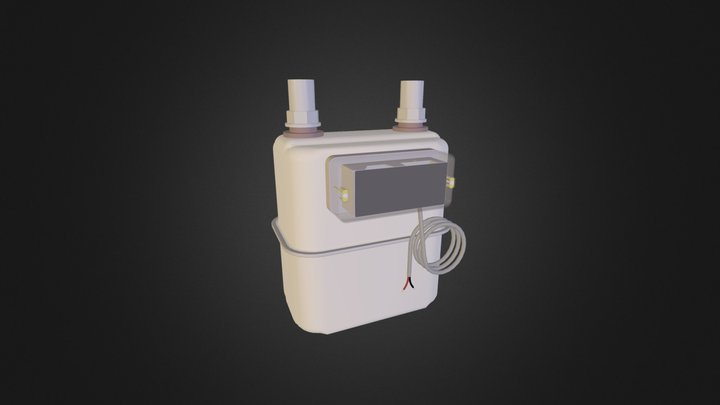 Gas Meter - Remote Readable Pulse-Output 3D Model