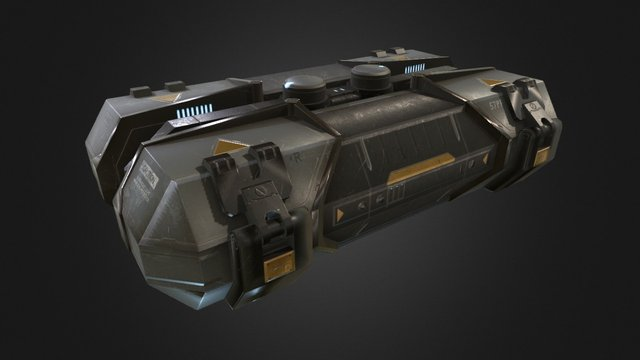 Sci Fi Crate 3D Model