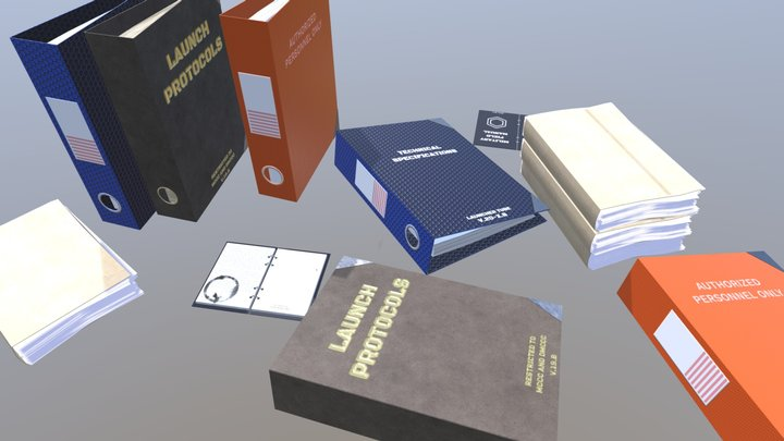 Military Style Files (binder/notebook) 3D Model