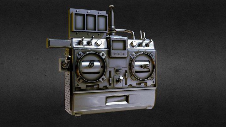 Radio control Delorean for 3D print 3D Model