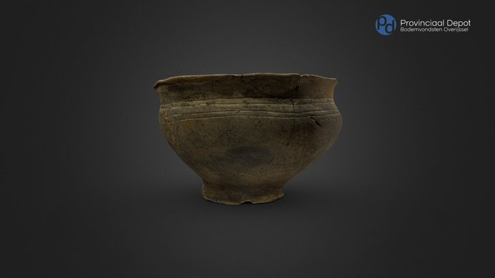 Inheems Romeinse situla, 270 – 450 na Chr. 3D Model