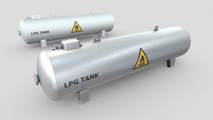 LPG Tank (Low-Poly) 3D Model