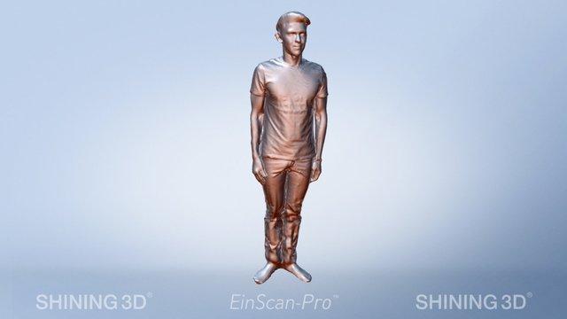 3d portrait scanned by #EinScan-Pro 3D Model