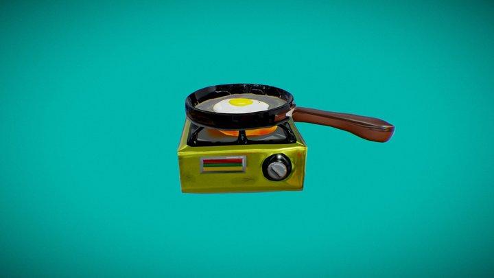 Buevito en el sartén 3D Model