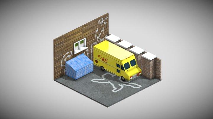 Trash Corner 3D Model