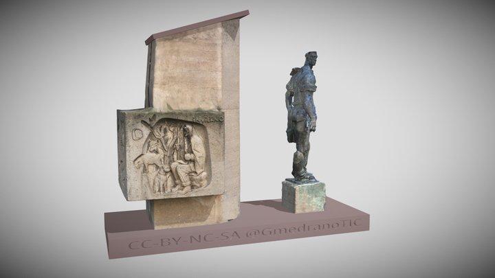 Estatua del Labrador 3D Model