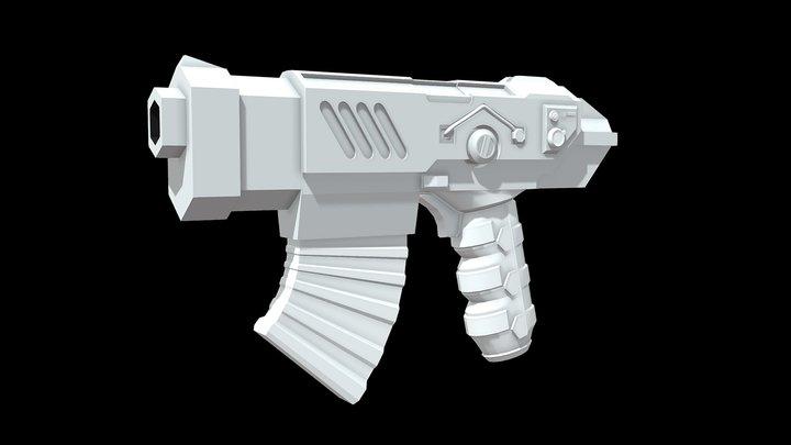 Sci-Fi Hangun Bolter (WIP) 3D Model