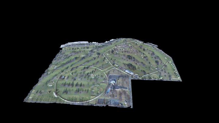 Newark Octagon and Observation Circle 3D Model