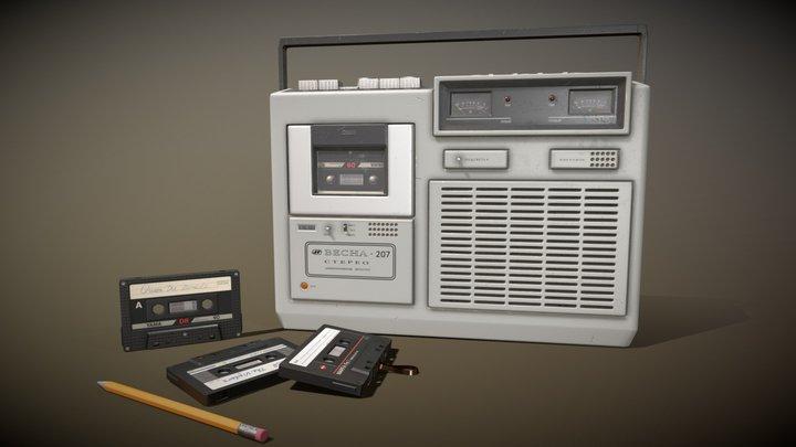 Soviet tape recorder Vesna-207 3D Model