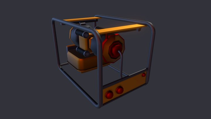 Generador Electrico 3D Model