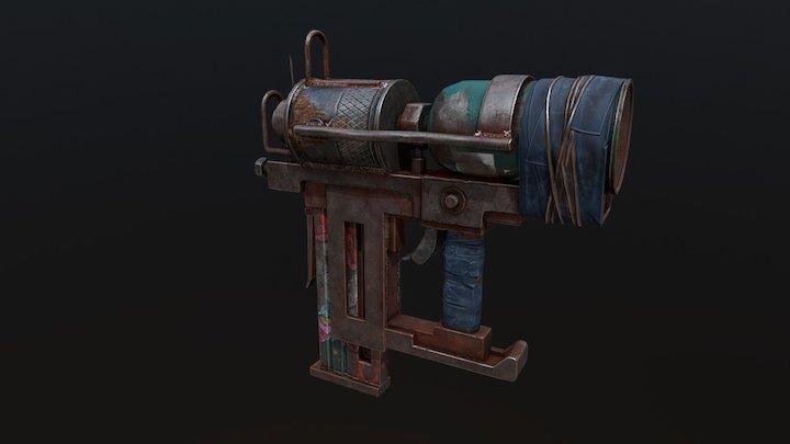 Nail Gun - Rust 3D Model