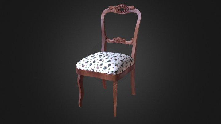 Vintage chair game asset 3D Model