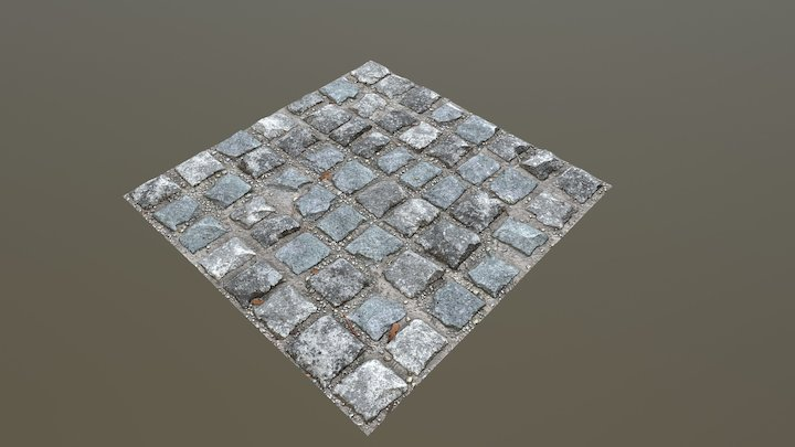 Cobblestone Floor Texture 3D Model
