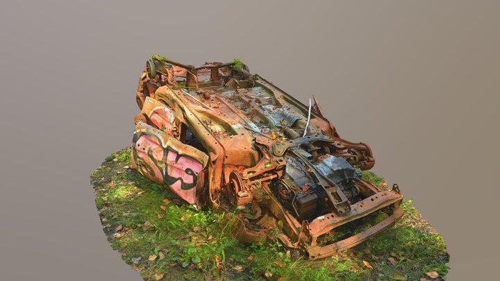 Burned Car Wreck (Raw Scan) 3D Model