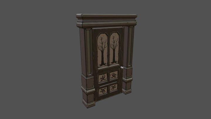 Hand Painted Door 3D Model