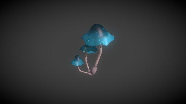Glowing Mushroom 3D Model