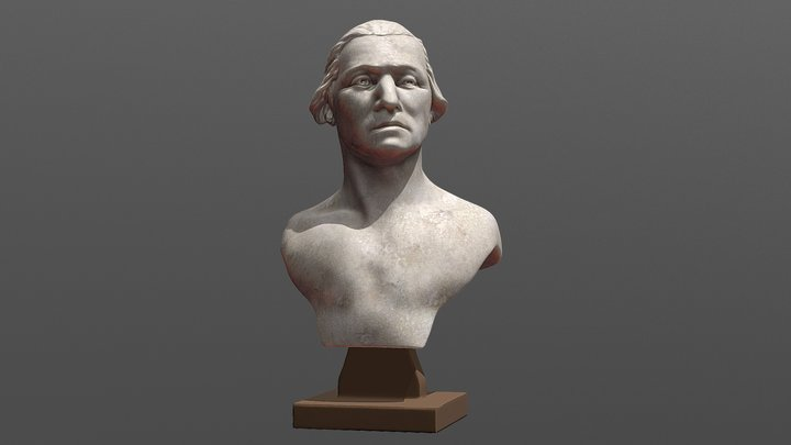 George Washington Bust 01 - After Houdon 3D Model
