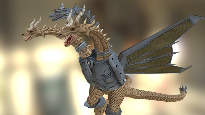 Mecha-King Ghidorah 3D Model