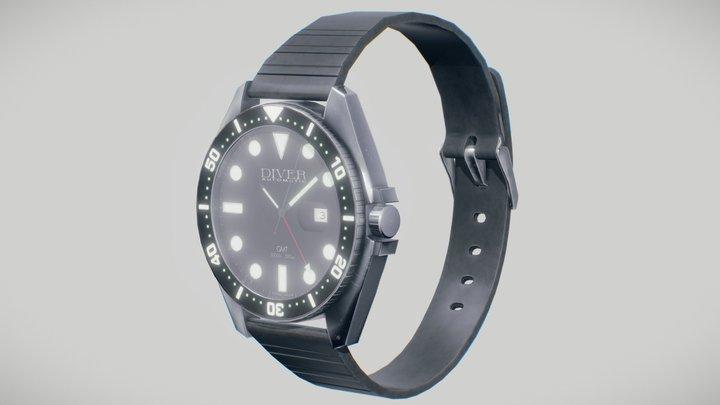 Dive Watch 3D Model