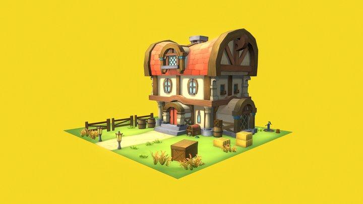 [Lowpoly]FarmHouse 3D Model