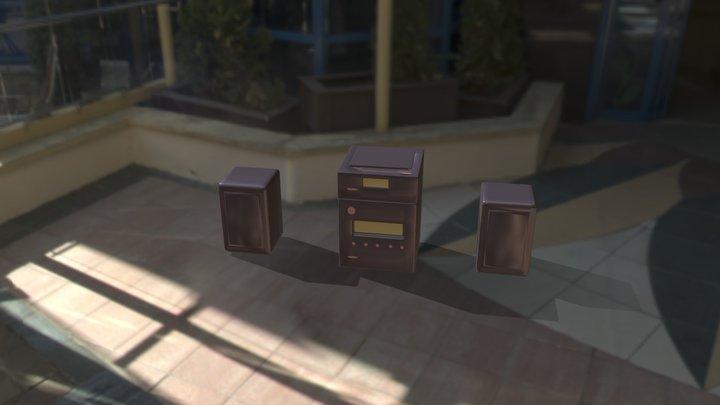 CD reader animated 3D Model