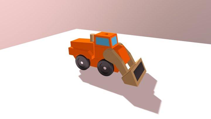 toy digger orange 3D Model