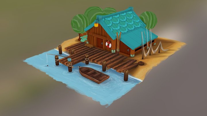 Fishing Hut 3D Model