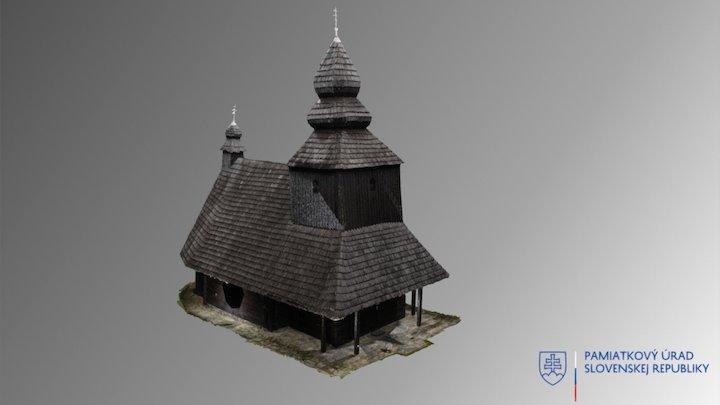 Ruská Bystrá - drevený kostol sv. Mikuláša 3D Model