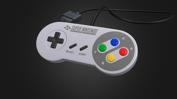 Super Nintendo Controller (EU/AUS) 3D Model