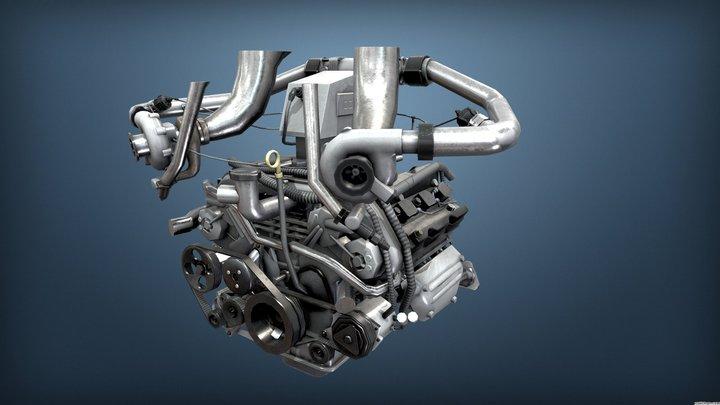 Burnout Masters Engine 5 - 370z_engine 3D Model