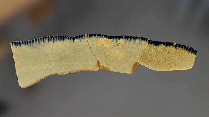 Shell-edge Pearlware Plate Sherds ca. 1809-1831 3D Model