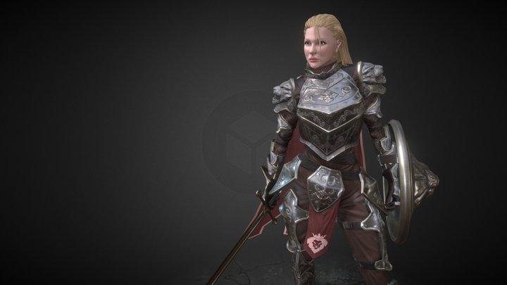 Chloe The Knight 3D Model