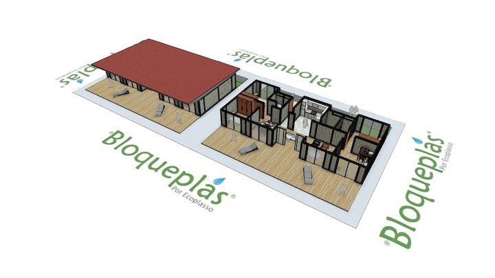 Casa Terraza Bloqueplas - Terrace House 3D Model