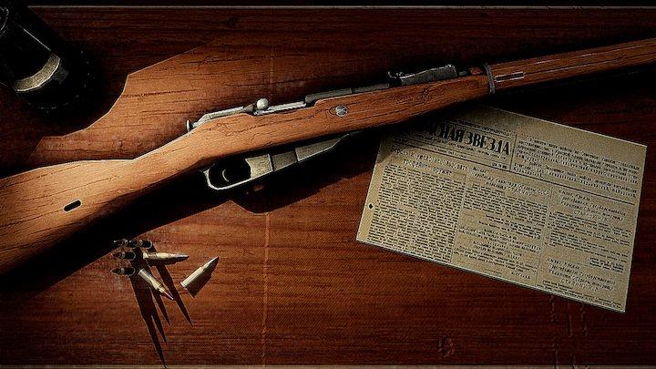 Good ol' Mosin-Nagant 1891/30 3D Model