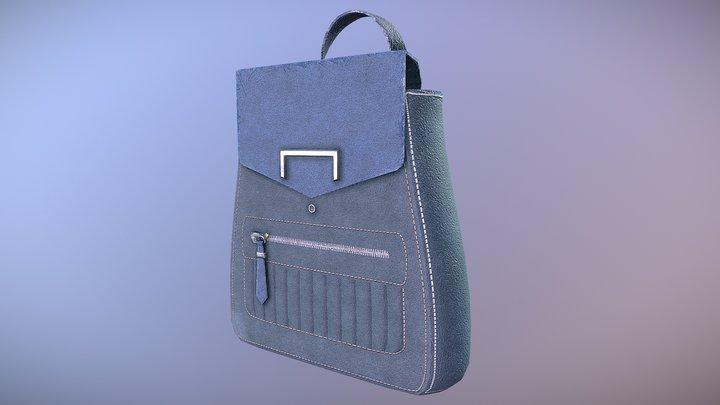 Cute Backpack 3D Model