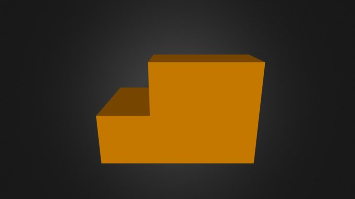 Orange Puzzle Piece 3D Model