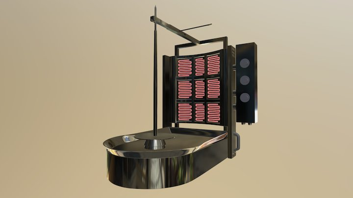 Machine à Kebab 3D Model